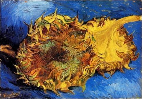 Vincent van Gogh - Dwa ścięte słoneczniki; 1887; 42x61; olej,/płótno