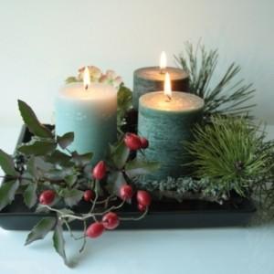 Tyniecka ikebana – świecznik wigilijny
