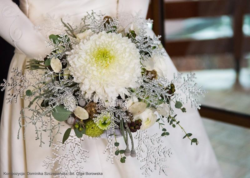 zimowe bukiety ślubne