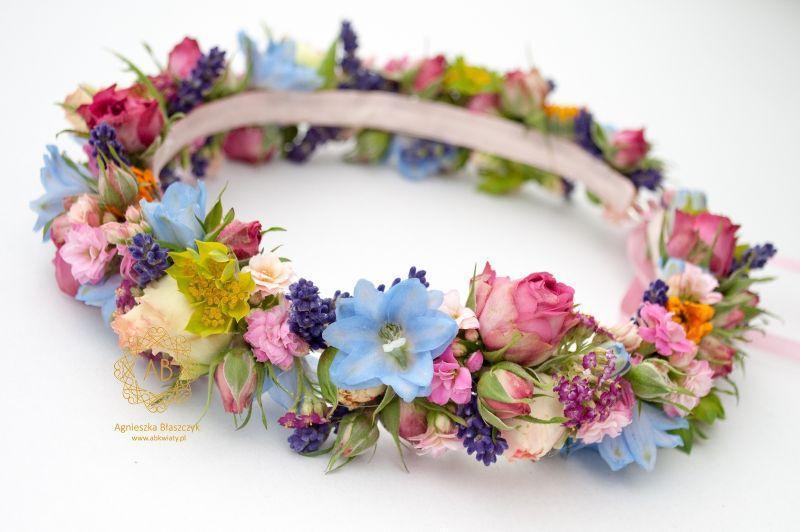 wianek_ślubny_z_kolorowych_kwiatów_abkwiaty_kraków