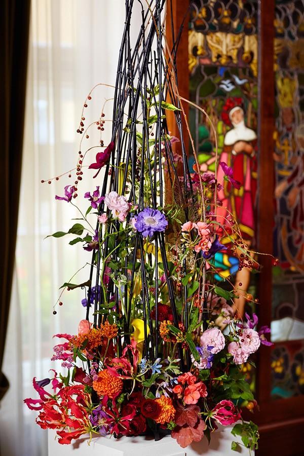 dekoracja florystyczna do obrazu