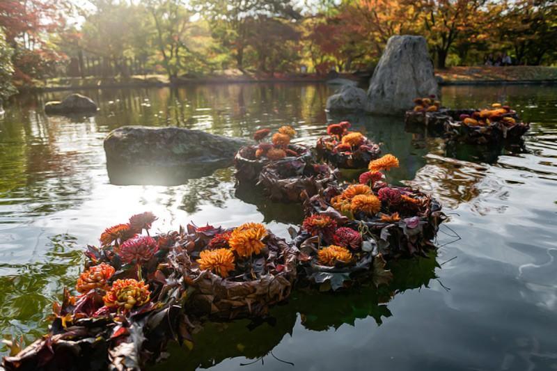Duża forma florystyczna, ogrody japońskie, landart