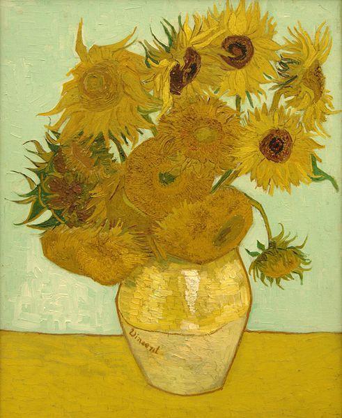 "Vincent van Gogh ""Martwa natura: wazon z dwunastoma słonecznikami"", Arles, 1888; 92 x 73; olej/płótno"