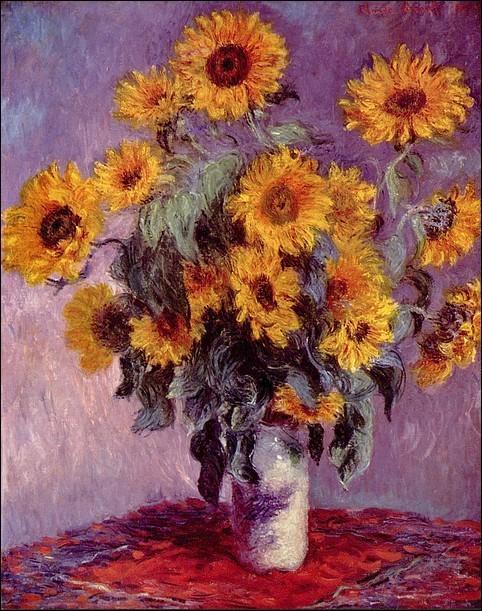 Claude Monet - Bukiet słoneczników; 1881; 81x101; olej/płótno