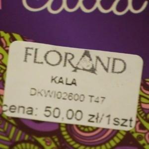 Oznaczenie towarów w kwiaciarni