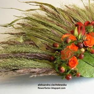 wachlarz z kwiatów