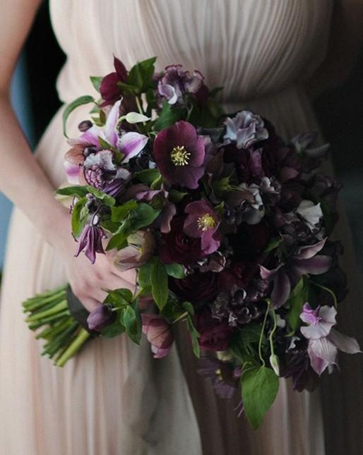 purple-hellebore-bouquet