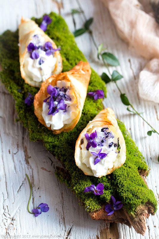kwiaty jadalne - fiołki
