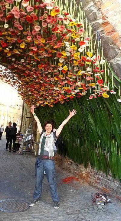 instalacja florystyczna Brama Rybna