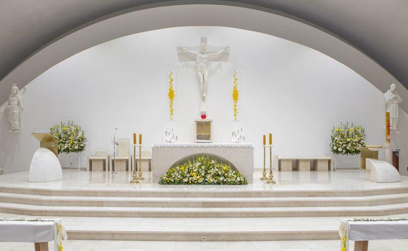 dekoracja kościoła Komunia Święta