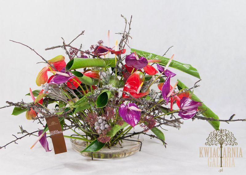 Kompozycja florystyczna w naczyniu - symetryczna, Sylwia Bednarek