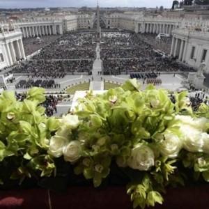 Wielkanocny ogród w Watykanie