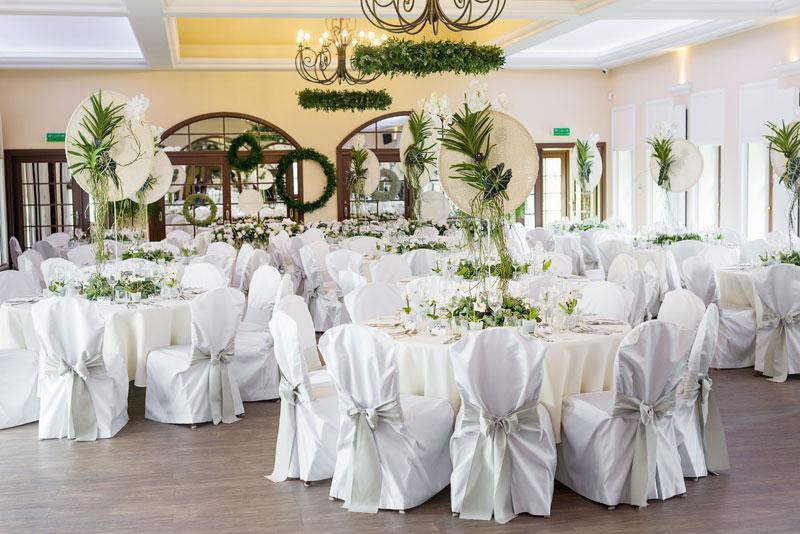 ślub kwiaty dekoracja sali