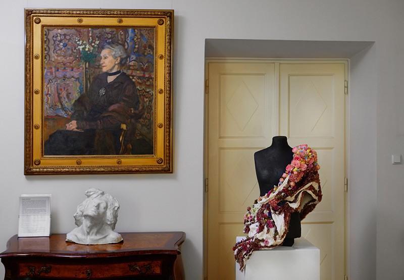 """Interpretacja florystyczna obrazu """"Portret Celiny Sarowej"""", fot. Marcin Chruściel"""