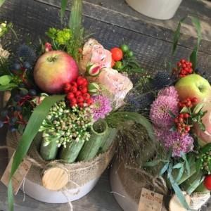 kwiaciarnia jesienny wystrój