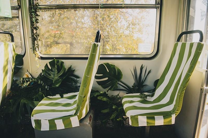 zielony tramwaj
