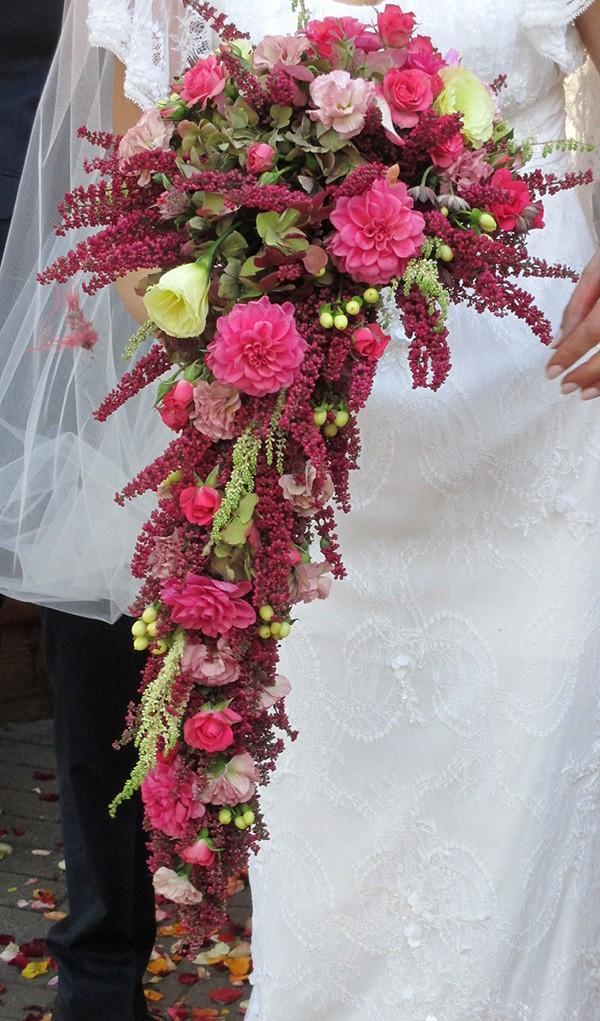 wiązanka ślubna z wrzosem