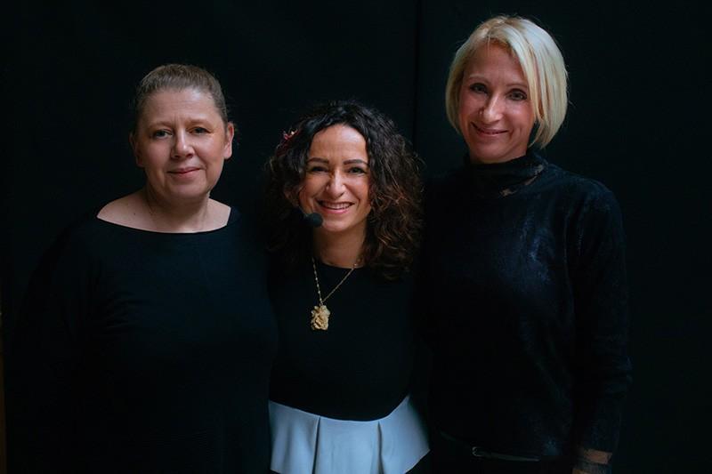 Magdalena Kaczmarek-Sidor, Anna Lamot-Bach, Małgorzata Ziemecka. fot. Marcin Chruściel / Hurtownia Kwiatów Róża