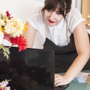 Walentynki w kwiaciarni