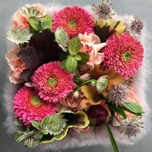 Prosty pomysł na flower box z taśmą filcową - od Karoliny Ładyżyńskiej-Skrzypek